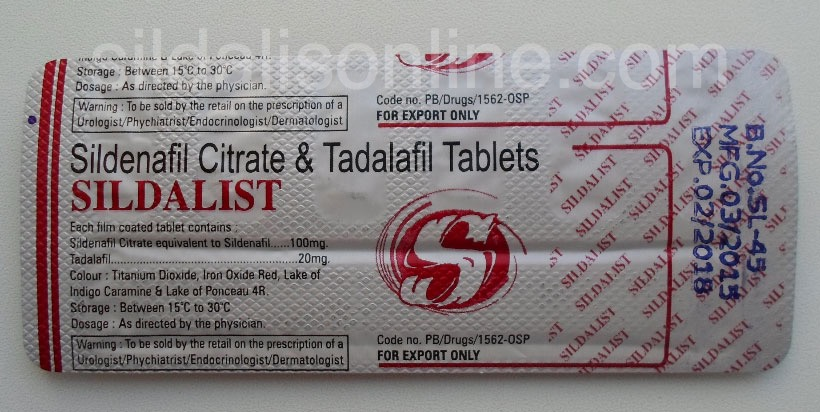Sildalis tablets Blister